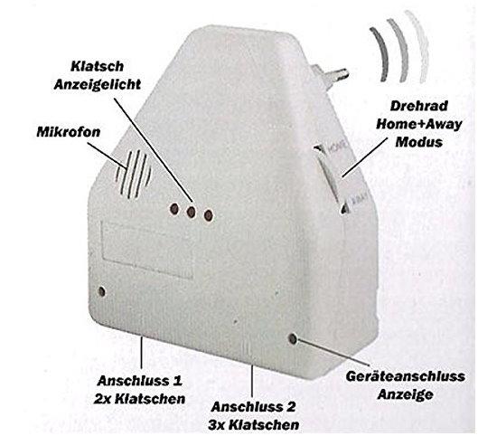 Clapper Klatsch Schalter Klatschschalter Akkustikschalter Steckdose CH Stromanschluss bekannt aus dem TV Sonstige 2