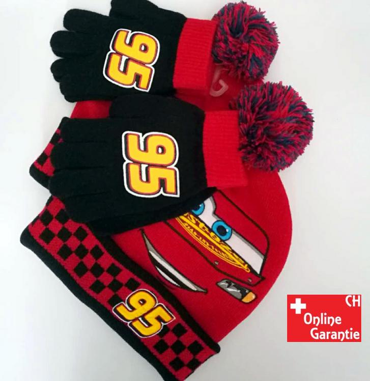 Disney Cars Lightning McQueen 95 Winter Mütze Beanie Cap und Handschuhe Junge Kind Kinder Sport & Outdoor 2