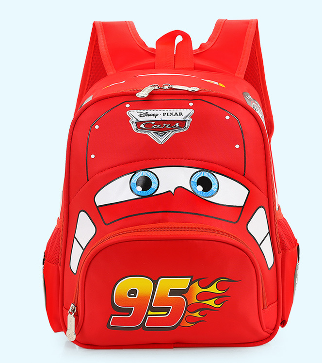 Disney Cars Lightning McQueen 95 Kinderrucksack Rucksack Tasche Auto Junge Kind Kinder Kindergarten Primarschule Rot Kleidung & Accessoires