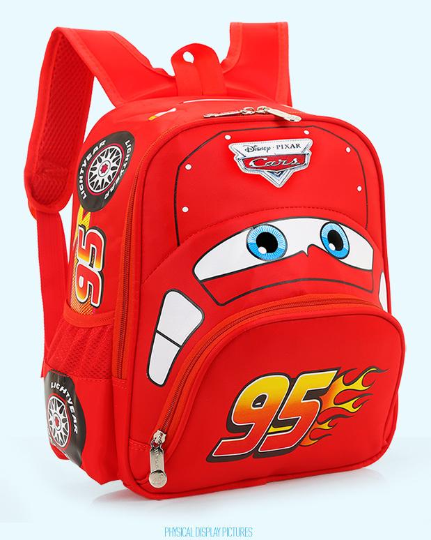 Disney Cars Lightning McQueen 95 Kinderrucksack Rucksack Tasche Auto Junge Kind Kinder Kindergarten Primarschule Rot Kleidung & Accessoires 2