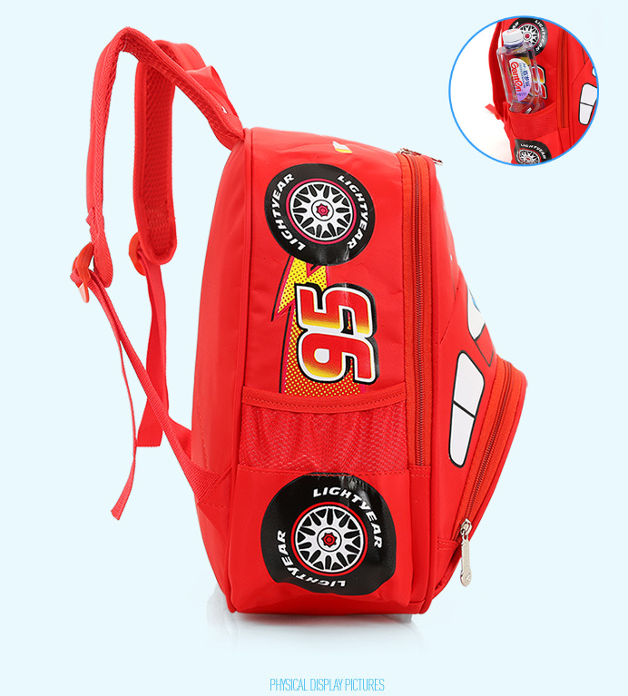 Disney Cars Lightning McQueen 95 Kinderrucksack Rucksack Tasche Auto Junge Kind Kinder Kindergarten Primarschule Rot Kleidung & Accessoires 3