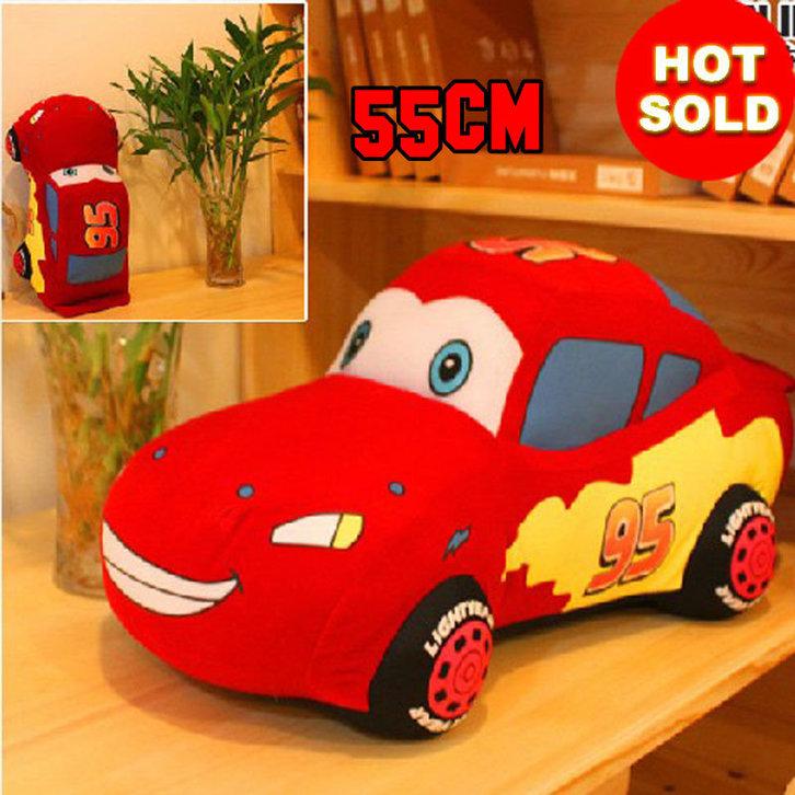 Disney Cars Lightning McQueen Plüsch Auto Plüschauto 55cm XL Geschenk Kind Junge Boy Pixar Spielzeuge & Basteln