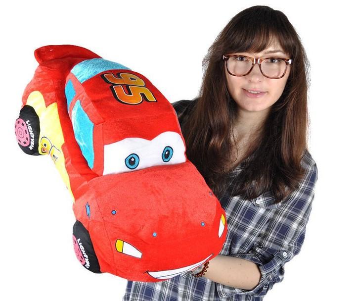 Disney Cars Lightning McQueen Plüsch Auto Plüschauto 55cm XL Geschenk Kind Junge Boy Pixar Spielzeuge & Basteln 2