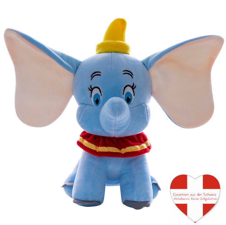 Disney Dumbo Plüsch Elefant Elefanten Plüschtier Kuscheltier Geschenk Kind Kinder Frau Freundin Süss Kinderzimmer Kult Kino TV Fan Spielzeuge & Basteln