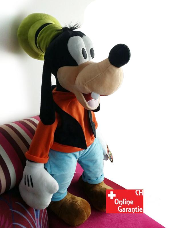 Disney Goofy Plüsch XXL Plüsch Puppe Plüschtier Plüschfigur Kuscheltier Goofy Micky Maus 75cm XL XXL Geschenk Kind Spielzeuge & Basteln 2