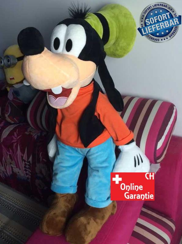Disney Goofy Plüsch XXL Plüsch Puppe Plüschtier Plüschfigur Kuscheltier Goofy Micky Maus 75cm XL XXL Geschenk Kind Kinder