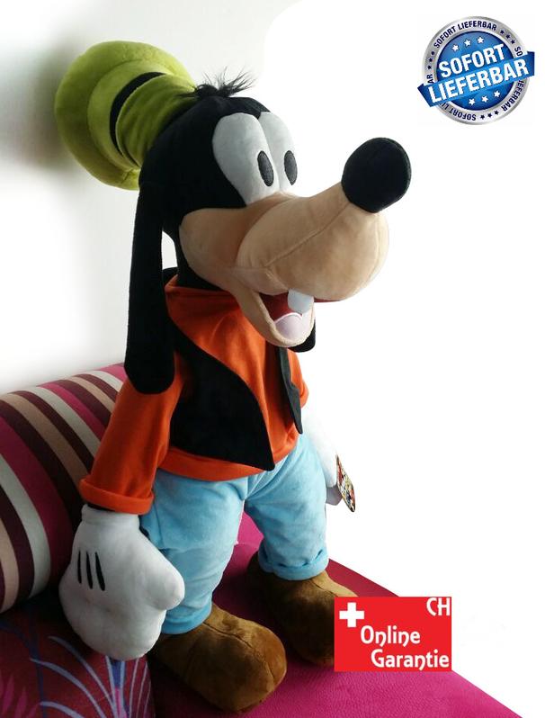 Disney Goofy Plüsch XXL Plüsch Puppe Plüschtier Plüschfigur Kuscheltier Goofy Micky Maus 75cm XL XXL Geschenk Kind Kinder Spielzeuge & Basteln 2