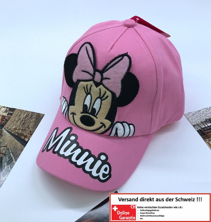 Disney Mädchen Minnie Mouse Baseball Cap Mütze Kappe Baseball Mädchen Girl Baumwolle Pink Rosa Geschenk Schweiz Baby & Kind
