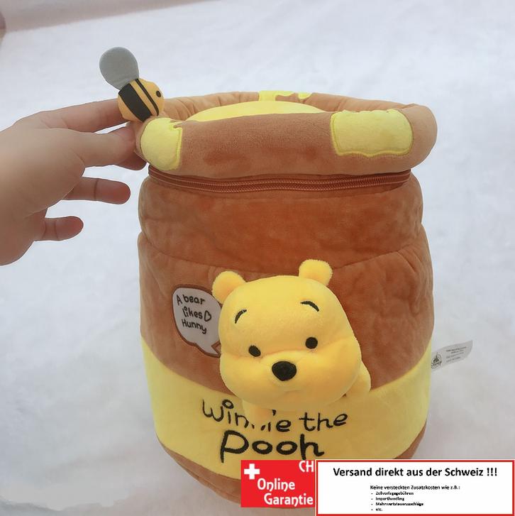 Disney Winnie the Pooh Pu der Bär Kind Kinder Plüsch Rucksack Tasche Schultasche Schulranzen Kindergarten Primarschule Honig Honigbär Fan Hundertmorgenwald  Baby & Kind