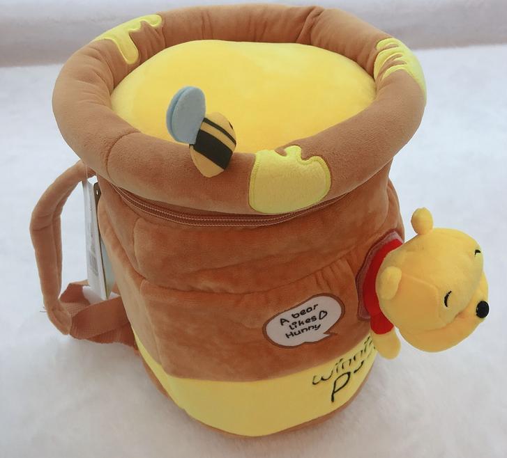 Disney Winnie the Pooh Pu der Bär Kind Kinder Plüsch Rucksack Tasche Schultasche Schulranzen Kindergarten Primarschule Honig Honigbär Fan Hundertmorgenwald  Baby & Kind 2
