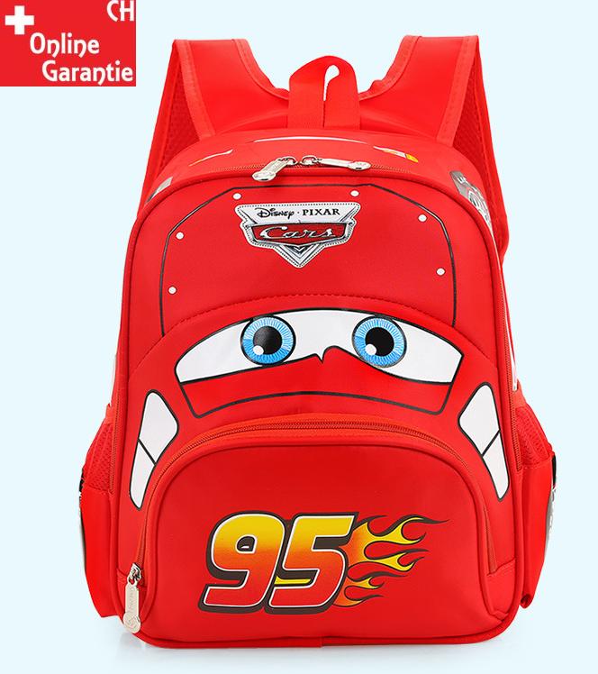 Disneys Cars McQueen Rucksack für Jungs Kindergarten Primarschule Fan Kleidung & Accessoires