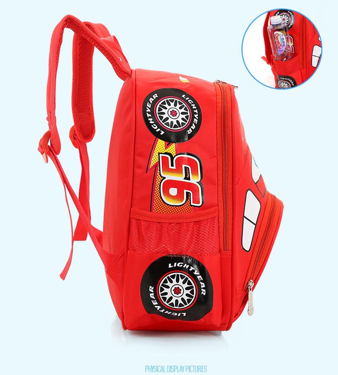 Disneys Cars McQueen Rucksack für Jungs Kindergarten Primarschule Fan Kleidung & Accessoires 3