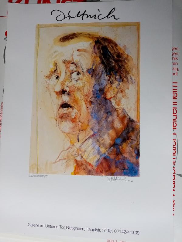 Dittrich Ausstellungsplakat 1988 Neresheim H Böll Antiquitaeten