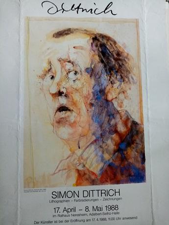 Dittrich Ausstellungsplakat 1988 Neresheim H Böll Antiquitaeten 2