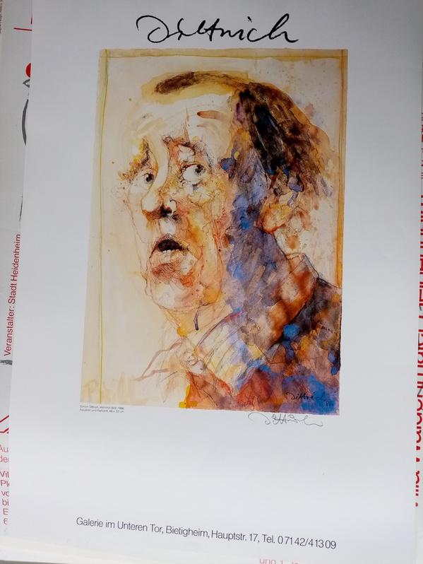 Dittrich Ausstellungsplakat 1988 Neresheim H Böll Antiquitaeten 4