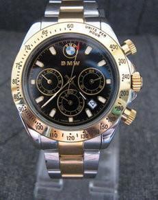 Edle BMW Auto Edelstahl Uhr Armbanduhr Fan Kleidung & Accessoires