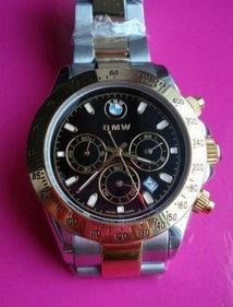 Edle BMW Auto Edelstahl Uhr Armbanduhr Fan Kleidung & Accessoires 2