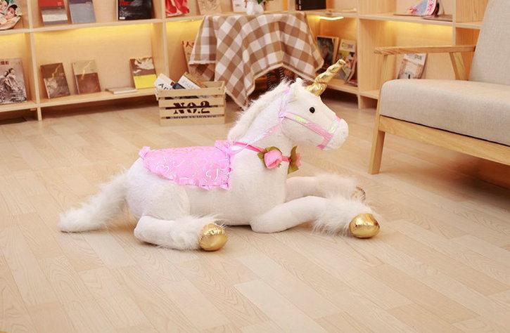 Einhorn Plüsch Plüschtier Kuscheltier Unicorn XXL Pink Rosa Weiss 2 Farben im Angebot Geschenk Kind Mädchen Kinderzimmer Baby & Kind 2