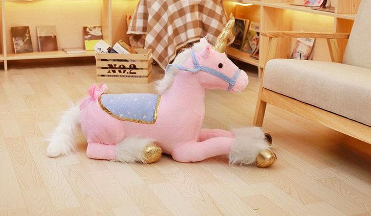 Einhorn Plüsch Plüschtier Kuscheltier Unicorn XXL Pink Rosa Weiss 2 Farben im Angebot Geschenk Kind Mädchen Kinderzimmer Baby & Kind 3