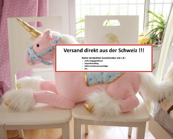 Einhorn Plüsch Plüschtier Kuscheltier Unicorn XXL Pink Rosa Weiss 2 Farben im Angebot Geschenk Kind Mädchen Kinderzimmer Baby & Kind 4