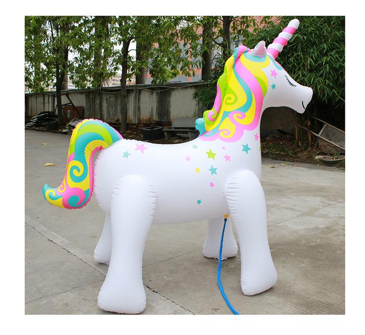 Einhorn Sprinkler Wasser Spielzeug Sommer Wasserspielzeug Unicorn Garten Badi Zuhause Gartenschlauch Sprinkleranlage Neu Baby & Kind 2