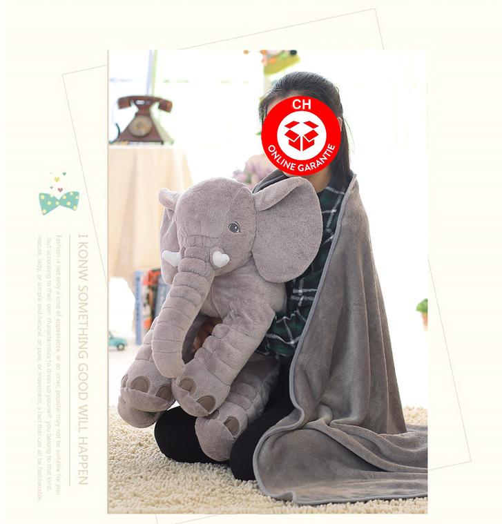 Elefant Elefanten Kissen Elefantenkissen Baby Kind Kinder Kinderzimmer Plüschtier XXL 80cm Geschenk Mutter Mütter Antiquitaeten