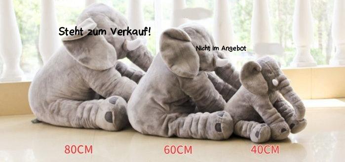 Elefant Elefanten Kissen Elefantenkissen Baby Kind Kinder Kinderzimmer Plüschtier XXL 80cm Geschenk Mutter Mütter Antiquitaeten 3