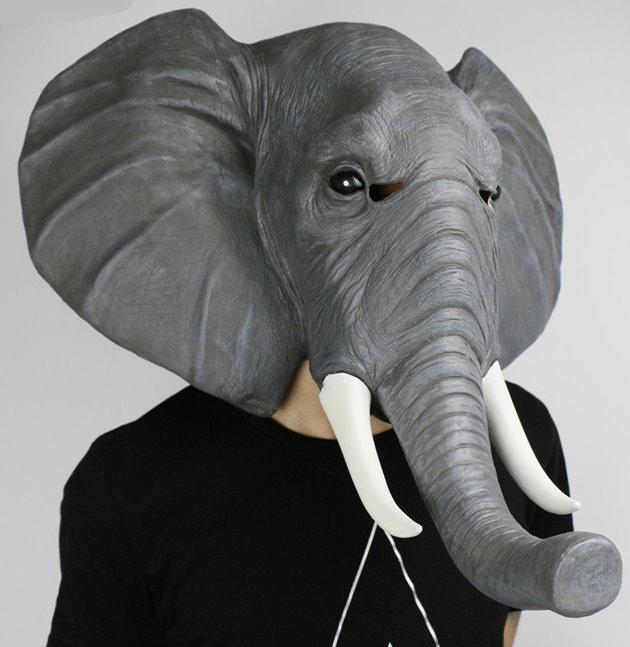 Elefanten Maske Elefante Elefant Elefantenmaske Tiermaske Schweiz Fasnacht Party Halloween Kostüm Kleidung & Accessoires