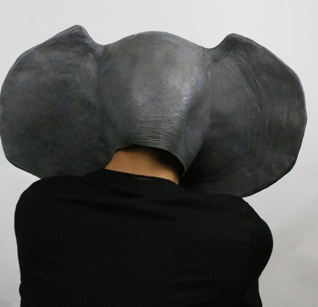 Elefanten Maske Elefante Elefant Elefantenmaske Tiermaske Schweiz Fasnacht Party Halloween Kostüm Kleidung & Accessoires 4
