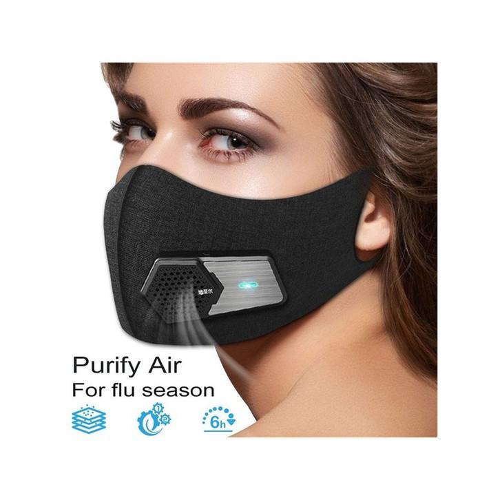 Elektro Maske KN95 Anti Nebel und Partikel Elektrische Frische Gesichtsmaske PM2.5 USB Ventilator Kleidung & Accessoires