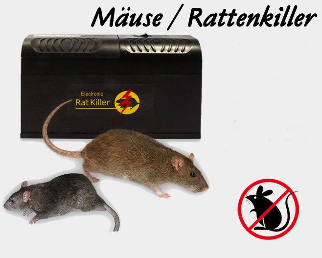 Elektronische Rattenfalle Mäusefalle Ratten Ratte Maus Mäuse Falle Killer ungiftige Schädlingsbekämpfung Haushalt