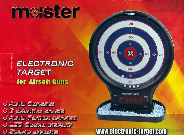 Elektronische Softair Zielscheibe Airsoft Sticking Target BB Zubehör BB's Zilschiba Sport & Outdoor 2