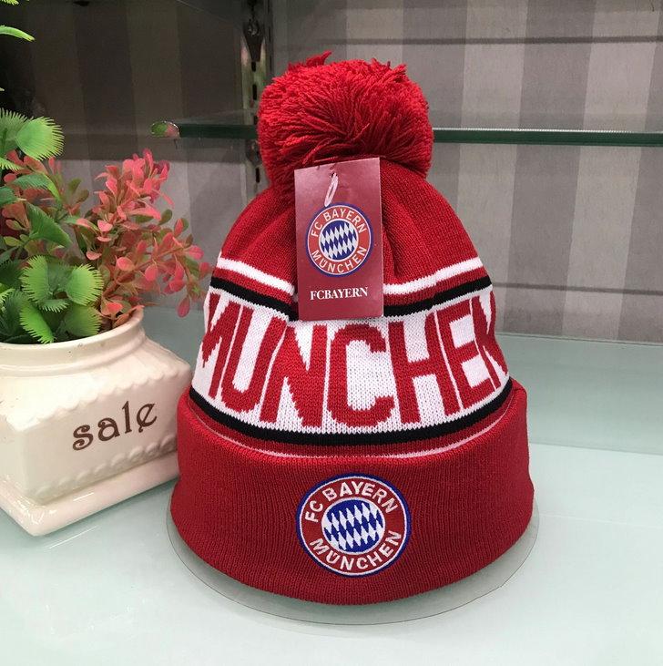 FC Bayern München Fan FCB Cap Beanie Winter Mütze Kappe Cap Rot Blau Kleidung Support Sport & Outdoor