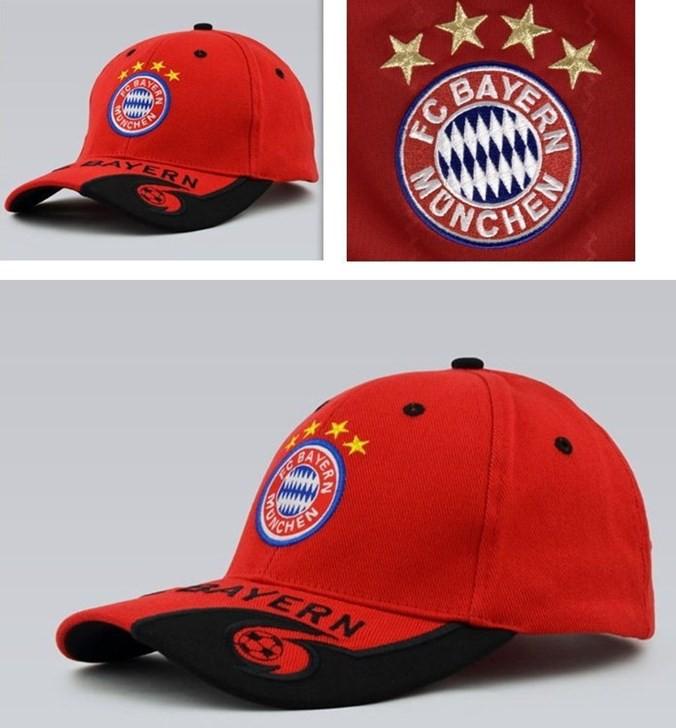 FC Bayern München Fussball Fan Cap Mütze Kappe Fancap Rot Blau Schwarz Sport & Outdoor 2