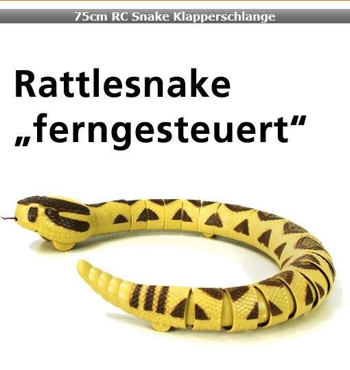Ferngesteuerte RC Infrarot Klapperschlange Rattlesnake Spielzeug Schreck Geschenk Kinder Spielzeuge & Basteln 3