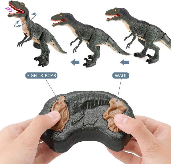 Ferngesteuerter Dinosaurier Velociraptor Spielzeug RC Dino Raptor Dinospielzeug Geschenk Kind Kinder Schweiz Baby & Kind 3