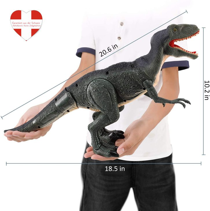 Ferngesteuerter Dinosaurier Velociraptor Spielzeug RC Dino Raptor Dinospielzeug Geschenk Kind Kinder Schweiz Baby & Kind 4