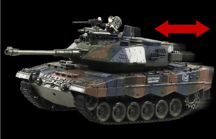 Ferngesteuerter Militär Panzer Tank RC Leopard Airsoft Softair BB Kugeln Schiess Funktion Spielzeug Spielzeuge & Basteln 3