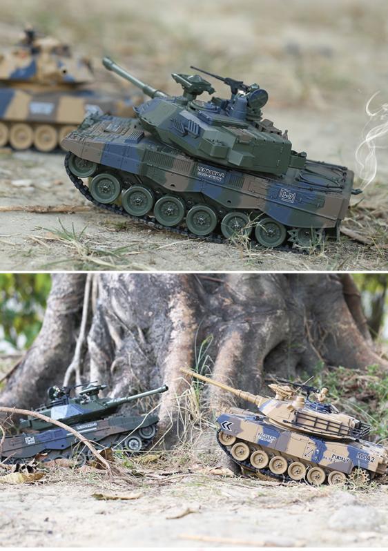 Ferngesteuerter Militär Panzer Tank RC Leopard Airsoft Softair BB Kugeln Schiess Funktion Spielzeug Spielzeuge & Basteln 4