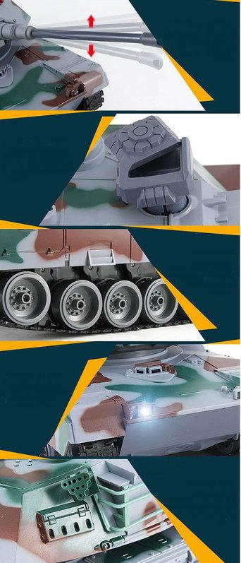 Ferngesteuerter XXL Panzer RC Tank Modellbau 83cm BB Airsoft Spielzeuge & Basteln 3