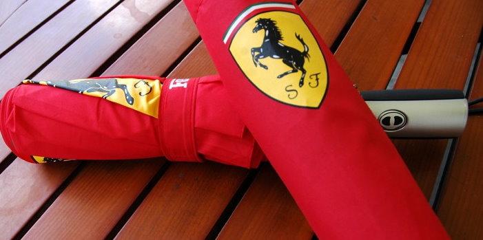 Ferrari Fan Scuderia Ferrari Regenschirm Taschenschirm Rot Geschenk Unisex für für Mann und Frau geeignet Kleidung & Accessoires 3