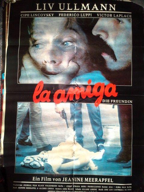 Film Plakat 1988 La amiga Format A1 Liv Ullmann Sammeln 2