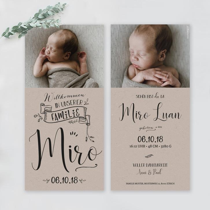Geburtskarten und Dankeskarten mit WOW-Effekt Baby & Kind 2