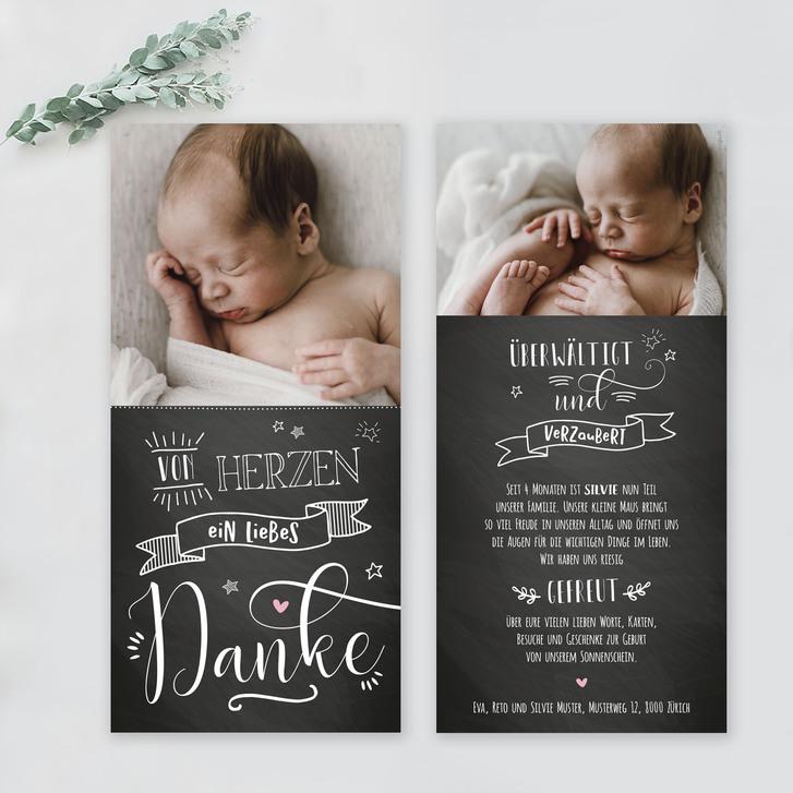 Geburtskarten und Dankeskarten mit WOW-Effekt Baby & Kind 3