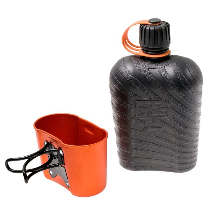 Gerber Bear Grylls Feldflasche Canteen Trink Flasche mit Kochgefäss Militärfeldflasche Militär Outdoor Camping Reisen Survival bekannt aus dem TV Sport & Outdoor 3