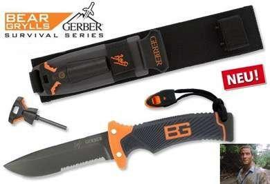 Gerber Messer Bear Grylls Ultimate Messer Version bekannt aus TV Serie DMAX Schweiz Feuerstein Jagd Jagdmesser Sport & Outdoor