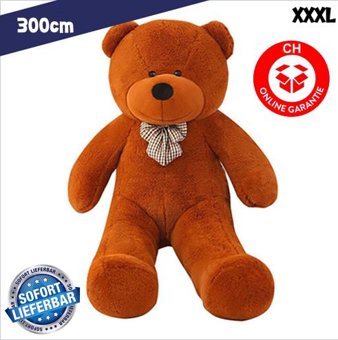 Gigantischer XXXL Plüsch Teddybär Bär Plüschbär Teddy Ted Dunkelbraun Plüschtier Kuscheltier Geschenk Kind Kinder Freundin XXL Baby & Kind