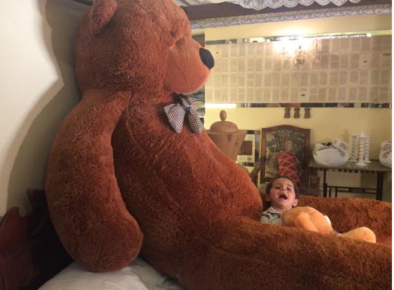 Gigantischer XXXL Plüsch Teddybär Bär Plüschbär Teddy Ted Dunkelbraun Plüschtier Kuscheltier Geschenk Kind Kinder Freundin XXL Baby & Kind 3
