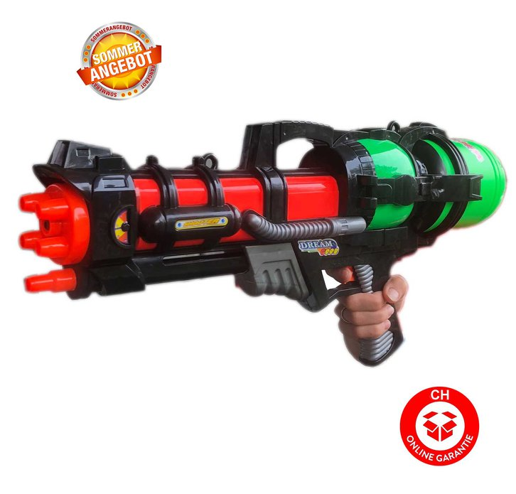 Grosse Wasserpistole 60cm 1.2L Tank Wassergewehr Spritzpistole Pumpgun Blaster Soaker NEU Spielzeug Wasser Sommer Sport & Outdoor