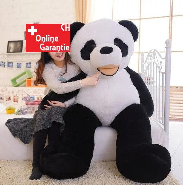 Grosses Panda Plüschtier Pandabär Teddy Schwarz Weiss Geschenk Weihnachten XXL Kuscheltier Sport & Outdoor